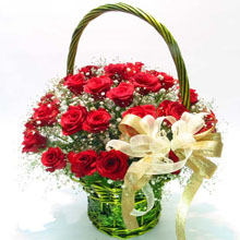Elegant rose basket