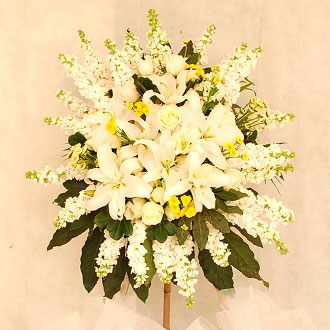 Sympathy flower basket G