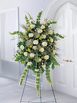 Sympathy flower basket H
