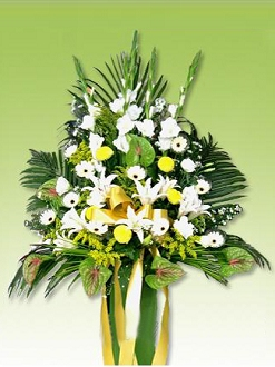 Sympathy flower basket J