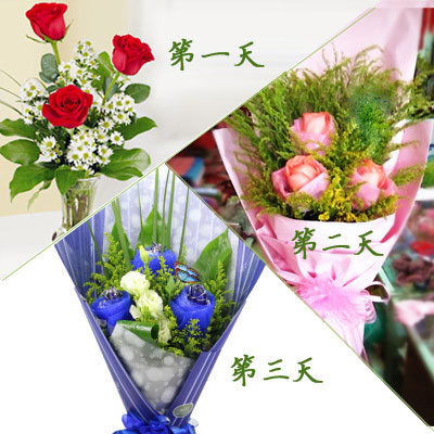 I love you——3 days' flowers