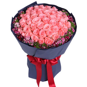 50 Pink Rose Bouquet
