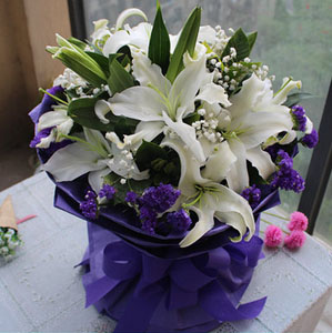 love in lily send flowers to guangzhou