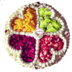 colorful fruit A send cake to jinan China