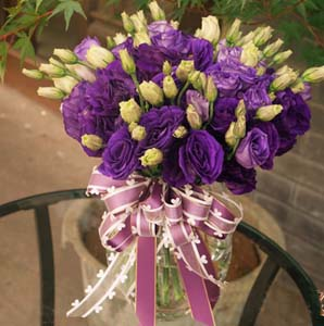purple romantic send flowers to kunming