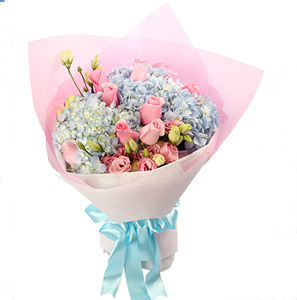 The pink send flowers to taiyuan