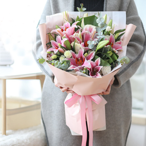 pink feeling send flowers to guangzhou