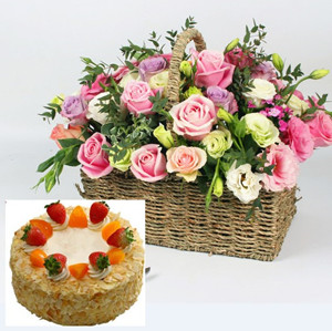 flower basket and cake D