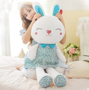 bunny toy- blue